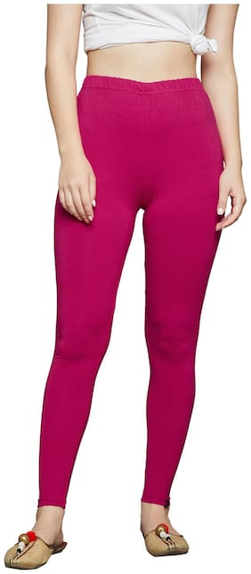 The Pajama Factory Women Ankle Length Solid Leggings