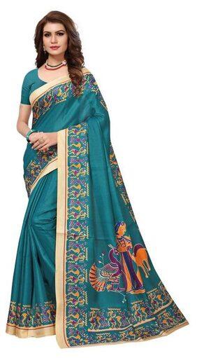 The Shopoholic Rama Kalamkari Print Khadi Silk Sarees New Collection