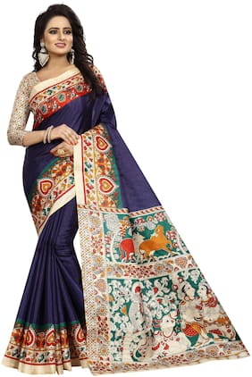 The Shopoholic Silk Kalamkari Saree - Multi , With blouse