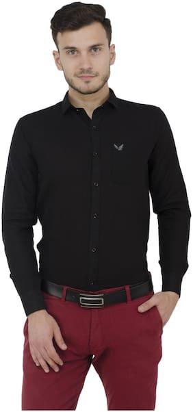 baluchi Men Regular fit Formal Shirt - Black
