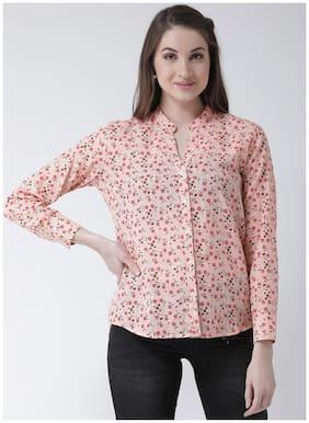 The Vanca Women Regular Fit Printed Shirt - Pink