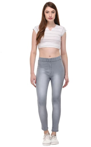 Denim Waist Thinline Women Jeggings For High PwB0q0nEz