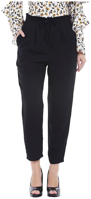 Globus Women Regular fit Solid Regular trousers - Black