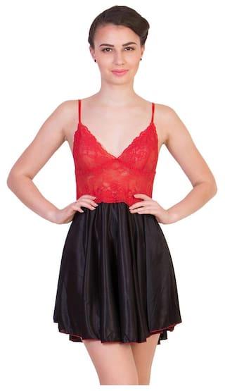 Buy Kissero Women s Multicolor Satin Nighty Online at Low Prices in ... d1b2576c8