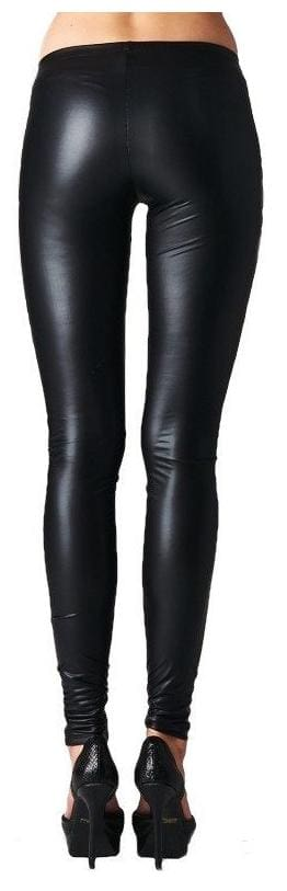 Legging Like Streachable Leather Leather Skinny Faux Timbre Look wqg1UEBc0