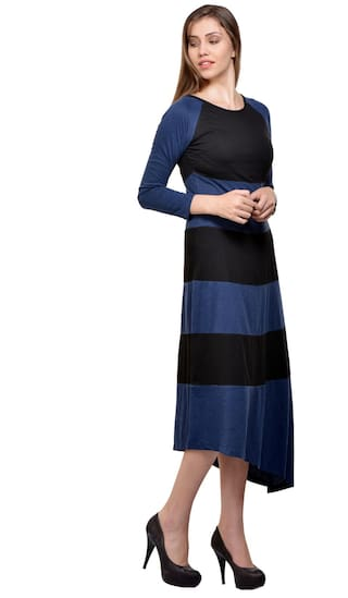Cotton Jersey Blue Black Tisoro And Dress q8AtI