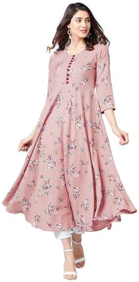 Tissu Rayon Pink Kurta