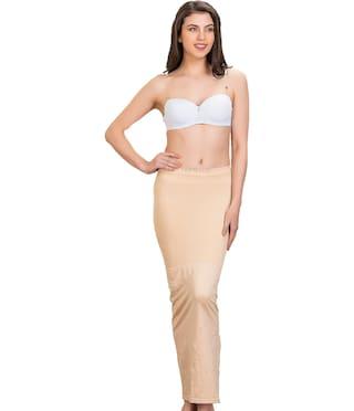 Tkeshto Women Cotton Saree shapewear - Beige