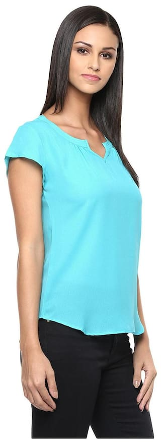 With Top 3 Neckline Sleeves Vanca In Pleats At Teal 4Th And Front Back Color The vygKNbyf80