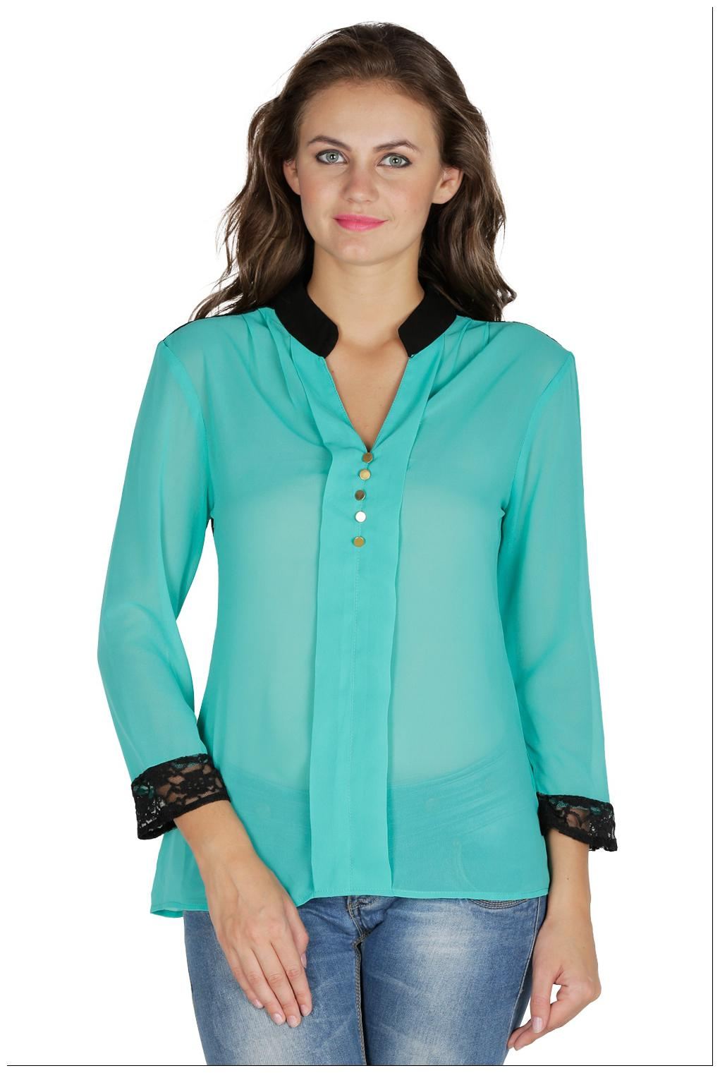 Mayra Green Tops For Women