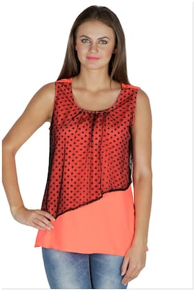 Mayra Women Solid Regular top - Orange