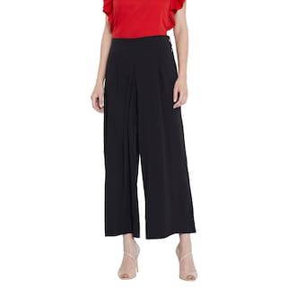Toshee Women's Black Color Plain Palazzos