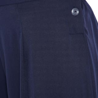Women's Blue Color Palazzos Plain Navy Toshee dxfq0wFF