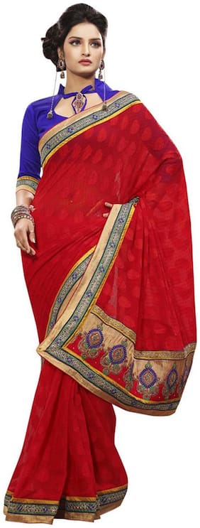 Touch Trend Marble Jacquard Partywear Saree