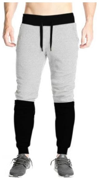 TRY THIS Men Grey Solid Slim fit Track pants