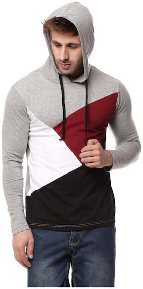 Men Hood Colorblocked T-Shirt