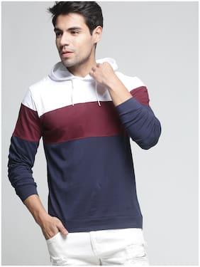 TRENDS TOWER Men White Regular fit Cotton Hood T-Shirt - Pack Of 1