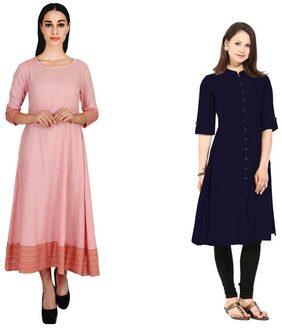 Trendy Design Cotton kurti combo of two