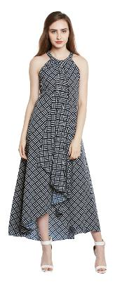 Trendy Divva Polyester Solid A-line Dress Multi