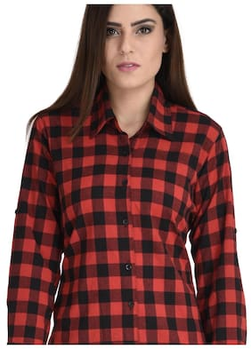 Trendy Red Check shirt for casual and party wear