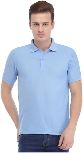 Trendy Trotters Men Blue Regular fit Cotton Lycra Polo collar T-Shirt - Pack Of 1