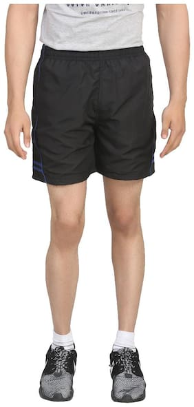 Trendy Trotters Black and Blue Shorts