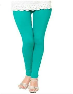 Trendy Wear Turquoise V Cut Leggings