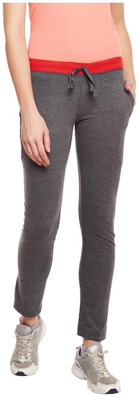 TRENDYGAL Women Regular fit Cotton Printed Track pants - Grey