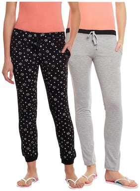 TRENDYGAL Women Regular fit Cotton Solid Track pants - Multi