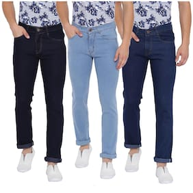 Tribewear Stylish Western Stretchable Denim Jeans For Men-Pack of 3