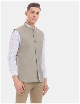 True Blue Men Polyester Regular fit Waistcoat - Grey