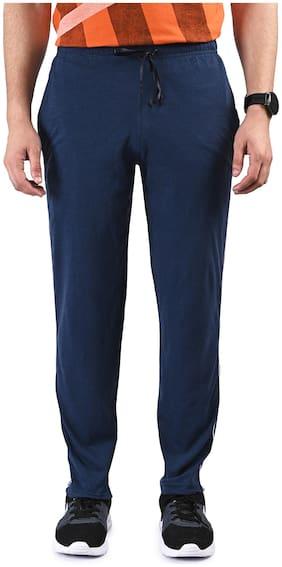 TRUE INDIAN Men Blue Solid Regular fit Track pants