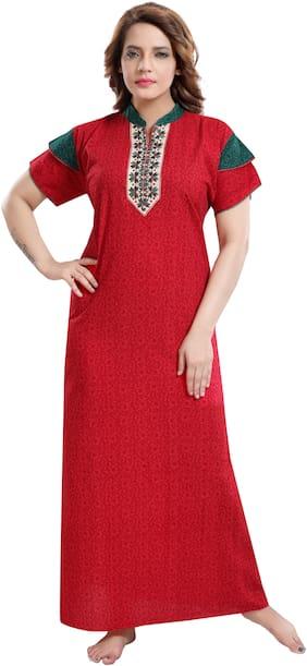 TRUNDZ Red Night Gown