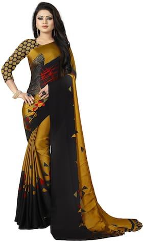 Trundz Women Blended Casual Universal Saree  (Mustard)