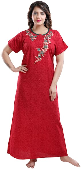 TRUNDZ Red Night Gown