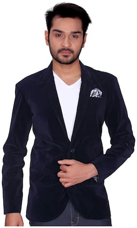 Trustedsnap Men Blended Regular fit Blazer - Blue