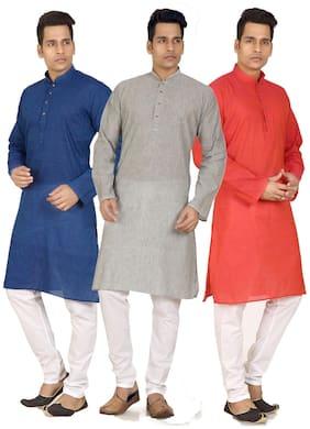 Trustedsnap south cotton kurta pyjama combo set of 3