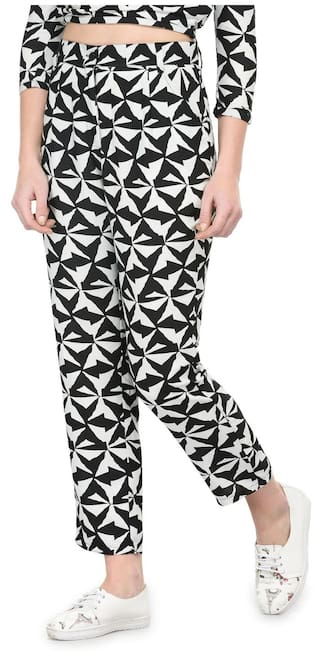 Tunic Nation And White Black Pant Women's Polyester pSPwp7Aq