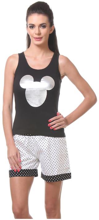 Buy Tweens Black Cotton Nightwear Online at Low Prices in India ... eaa85aebd