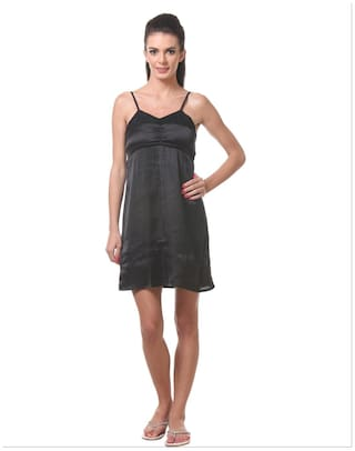 2601f5a5768bd Buy Tweens Black Short Night Dress Online at Low Prices in India ...