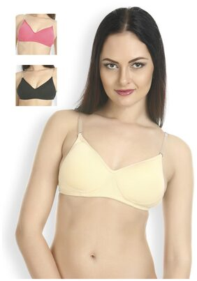 Tweens 3 Padded Cotton T-shirt Bra - Beige