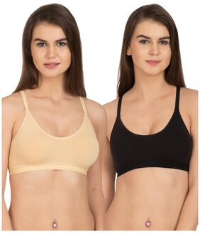 Tweens Racer-back Wirefree Sports Bra ( With Removable Pads) (pack Of 2)