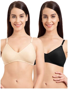 e8760ad420 Tweens Skin Black Non-Padded Full Coverage Wirefree Bra