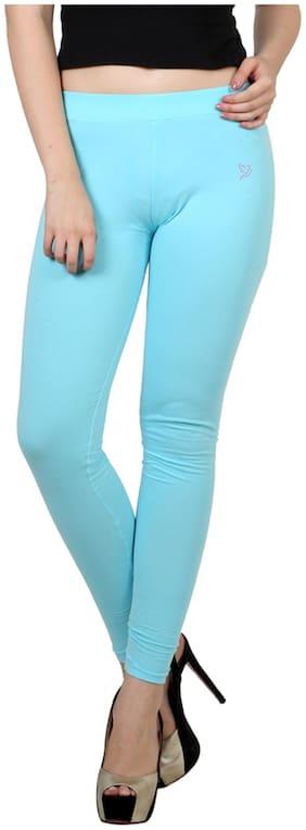 Twin Birds Turquoise Cotton Legging