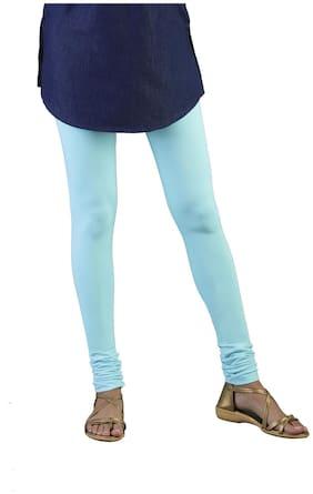 Twin Birds Cotton Leggings - Blue