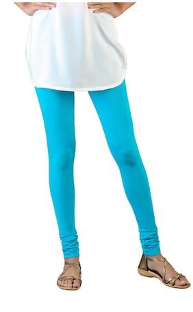 Twin Birds Cotton Leggings - Turquoise