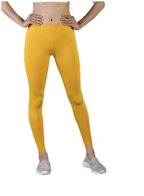 Twin Birds Cotton Leggings - Yellow