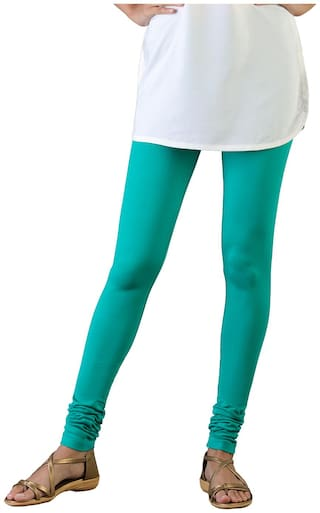 Twin Birds Cotton Leggings - Green