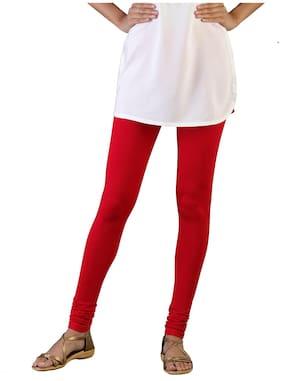 Twin Birds Cotton Leggings - Red