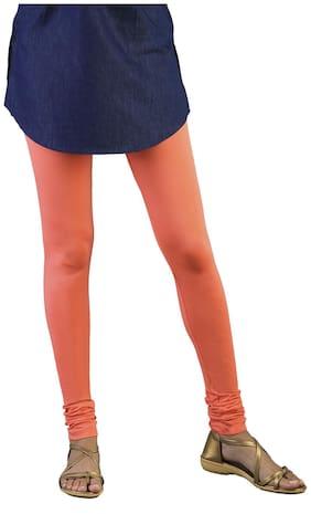 Twin Birds Cotton Leggings - Orange